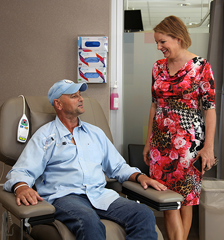 Sussan Ley MP with patient Mark Wilken1